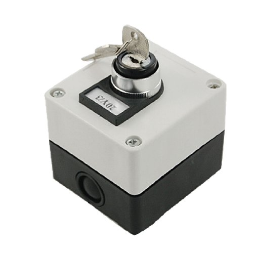 Sourcingmap® AC 660 V 10 A Drei 3 Position Key Lock Rotary Selector Select Switch Station -