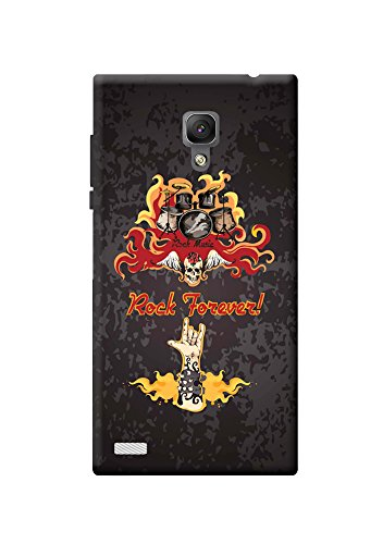 KanvasCases Rock Forever Back Cover For Xiaomi Redmi Note