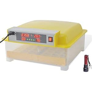 vidaXL Inkubator für 48 Eier Brutkasten Brutmaschine Motorbrüter Brutgerät automatisch