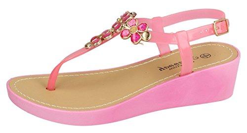 Femme Beach Ouverte Wpvft Fuchsia Pink À Chaussure Saute Styles Larrière fqUwCnvn