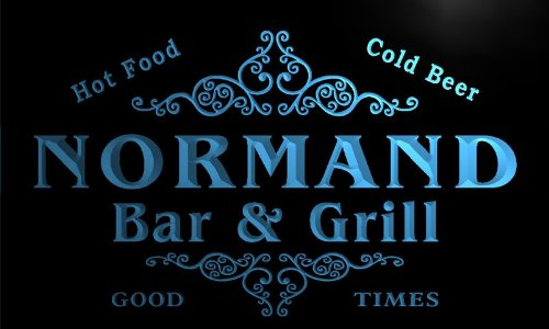 u32755-b NORMAND Family Name Bar & Grill Home Brew Beer Neon Sign Barlicht Neonlicht Lichtwerbung - Beleuchtung Normande