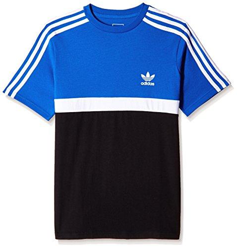 Adidas j trf fl tee, maglietta bambino, blu (blu/bianco/nero), 128