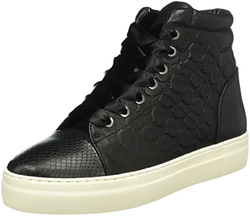 Joop! Daphne High Sneaker I Soft Leather, Baskets Basses Femme Noir - Noir (900)