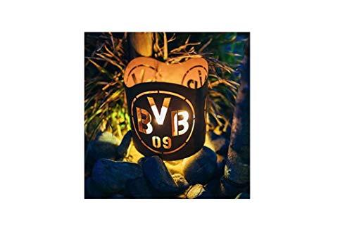 feuerfa  Borussia Dortmund BVB Teelichthalter/Windlicht ** Rost ** BVB-010