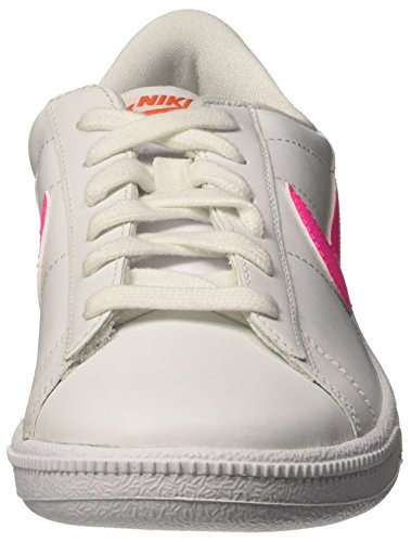 Nike Wmns Tennis Classic, Scarpe da Ginnastica Donna Bianco (White/Pink Blast/Team Orange/Black)
