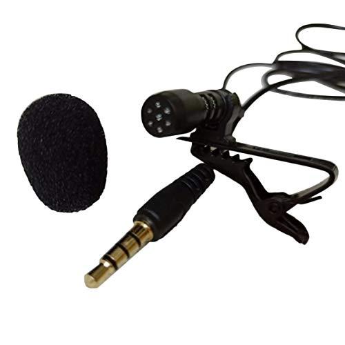 Jinkai Bewegliche 3.5mm Mini Computer-Mikrofon-Revers Lavalier Clip Mikrofon für Lecture Teaching Conference Guide Studio schwarz WEIWEITOE