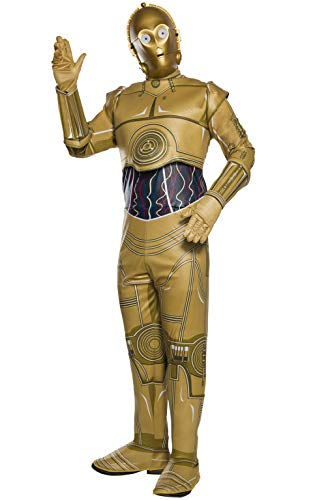 Star Wars Adult C-3PO Fancy Dress Costume Standard (C3po Kostüm Für Herren)
