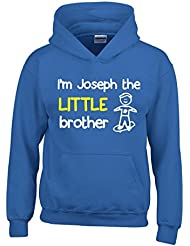 Personalised I'm The Little Brother Boys Hoodie