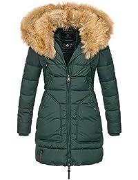 Marikoo Designer Damen Winter Jacke Parka Mantel Teddyfell Warm gefüttert  B616 28a21a2c9b