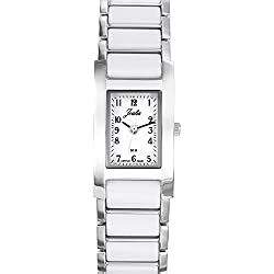 Joalia Women's Analogue Watch with White Dial Analogue Display and Stainless steel plated Bicolour - 631138