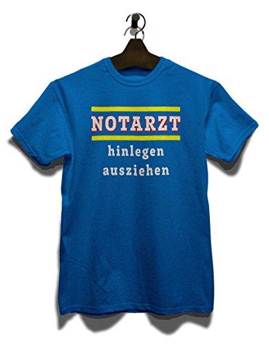 Notarzt Hinlegen Ausziehen T-Shirt Royal Blau
