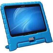 NEWSTYLE La caída de la vivienda de Eva a prueba de golpes para niños diseño de Convertible función atril para Samsung Galaxy Tab 4 10.1 SM-T530 SM-T531 SM-T535(azul)