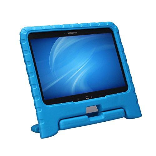 NEWSTYLE Samsung Galaxy Tab 4 10.1 Kinder Hülle Case mit umwandelbarer Handgriff Superleichte Stoßfeste Schutzhülle Tasche Cover für Samsung Tab 4 SM-T530/T531/T535 (10,1 Zoll) - Blau Tablet-cover Für Kinder