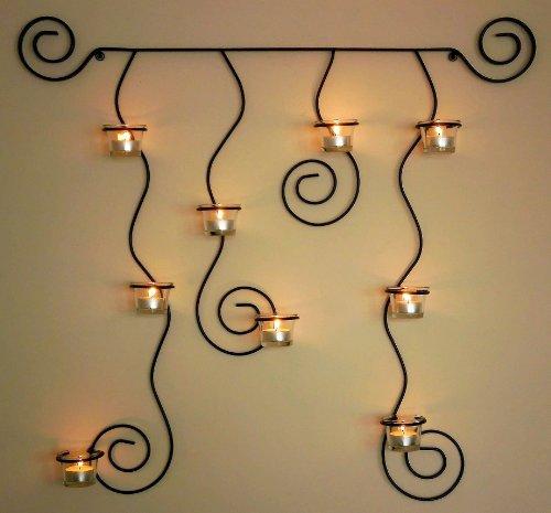 Wandteelichthalter Lysa aus Metall 74 cm Wandkerzenhalter Teelichthalter Kerzenhalter Wandleuchter