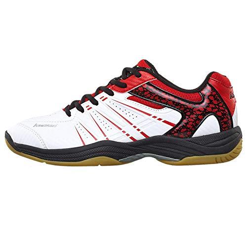 QIMITE Herren Laufschuhe,Professionelle Badminton Schuhe atmungsaktiv Anti-Slippery Sport Schuhe für Männer Frauen rote Sneakers@ 41