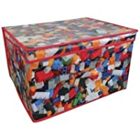 Preisvergleich für 2 x Jumbo Large Toy Boxes Book Bedding Laundry Kids Childrens Storage Chest (Bricks) by Beamfeature