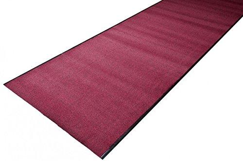 havatex Schmutzfang Läufer Mabo - schadstoffgeprüft und pflegeleicht | schmutzresistent robust strapazierfähig | Flur Diele, Farbe:Rot, Größe:90 x 300 cm