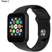 LUOOV uomini e donne impermeabile Wireless Bluetooth Smart orologio fotocamera sport sana polso orologio telefono [Nero]