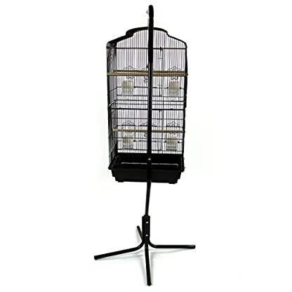 Easipet Large Metal Bird Cage with Stand Suitable For Multiple Birds (Black) 8