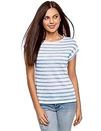 oodji Collection Mujer Camiseta a Rayas