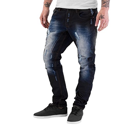 Just Rhyse Wag Herren Anti Fit Jeans Blau Blau