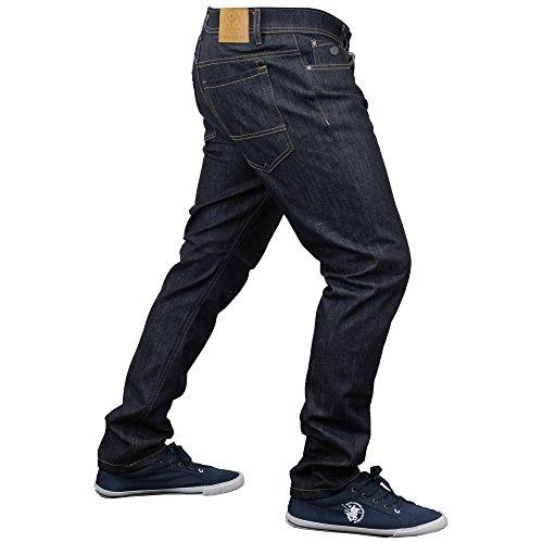 Herren Enganliegende Denim Jeans By Threadbare Neu Roh Gewaschen - BMU027PKA