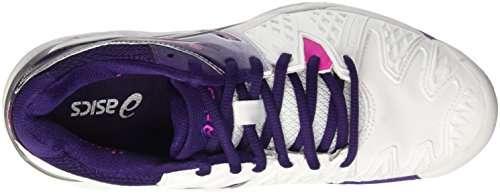 Asics Gel-Resolution 6 Clay, Chaussures de Tennis Femme Multicolore (White/Parachute Purple/Hot Pink)