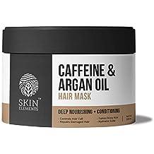 Skin Elements Caffeine & Argan Hairfall Control Hair Mask, 200 ml (Reduces Hairfall, Tames Dry & Frizzy hair)