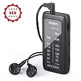 PRUNUS J-982 Pocket Radio Mini Stereo FM/AM Transistor Portable Radio, with BBS(bass)