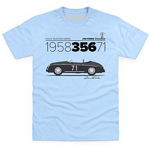 Jon Forde 1958 356 71 T-Shirt, Herren, Himmelblau, - Porsche Design Zeigt