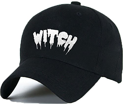 Bonnet Casquette Snapback Baseball WITCH OMG 1994 Hip-Hop en Noir / Blanc avec les ASAP Bad Hair Day