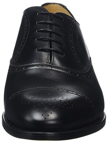 Barker Herren Newcastle Oxford, Schwarz Black (black Vitello)