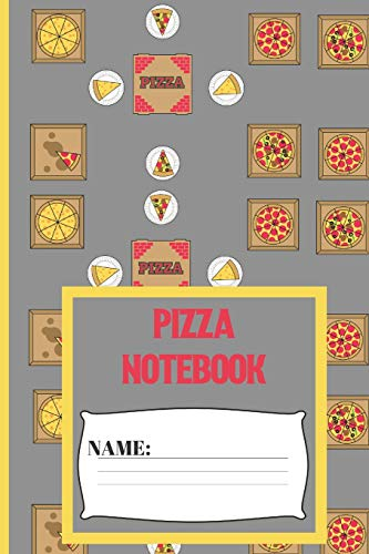 Pizza Notebook: Small funny composition notebook 120 pages  (6 x 9 Inch). Pizza Box Blank lined notebook for Pizza lovers Pizza Slice Boxen
