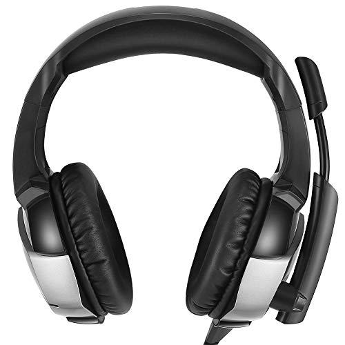 ZqiroLt K5 Gaming Headset, Universal, Rotierendes Mikrofon, kabelgebundener Overhead-Bass, Gaming-Kopfhörer Black
