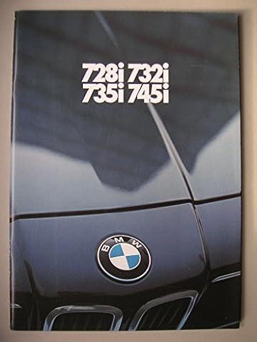 Prospekt BMW 7er (728i 732i 735i 745i) - von 2/1981 - 61 Seiten - deutsche Ausgabe