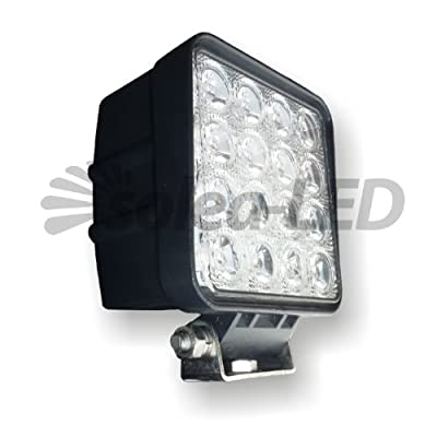 Solea-LED Arbeitsscheinwerfer 3600er Serie, funkentstört, 60° Abstrahlwinkel (Flutlicht), 12-24 Volt, für den Einsatz im Bau-, Land- und Forstbereich, Inkl. Befestigungshalterung von Solea-LED auf Lampenhans.de