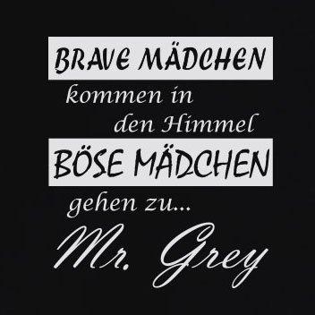 TEXLAB - Böse Mädchen gehen zu Mr. Grey - Langarm T-Shirt Marine