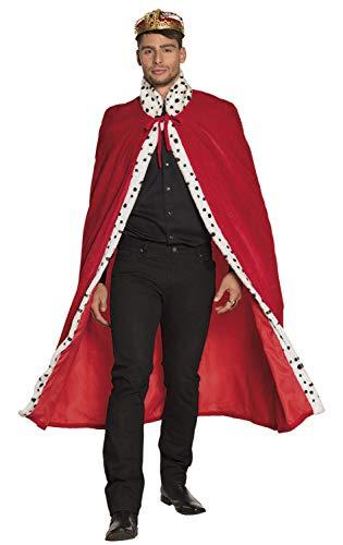 Kostüm Königin Rote Für Erwachsene Deluxe - Boland 36101 Königsmantel deluxe 130 cm, Unisex- Erwachsene, rot,
