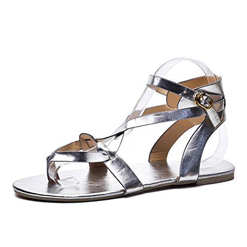 Frauen Sandalen für Frauen liusdh,Damen schuheSummer Women Ladies Sandals Cross Strap Flat AnkleRoman Casual Shoes(SL,38) -