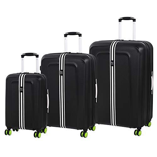 it luggage 3-teiliges Set Jupiter 8 Rad Hardshell erweiterbar Koffer 79 cm, Schwarz (Schwarz) - 16-2160-08GLO3N-S001