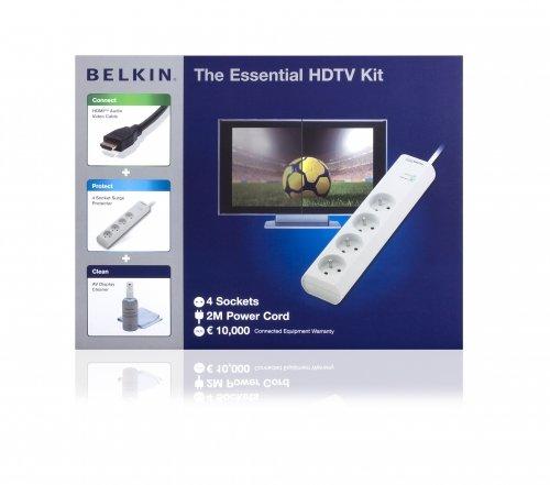 Belkin HDTV-Kit Mehrfachsteckdose (HDM-Kabel und Reinigungsset) Hdtv-kit