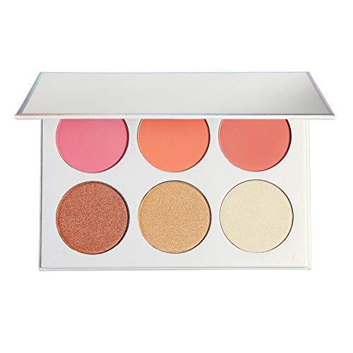 Sheer Eye Shimmer (Allbestaye 6 Farben Shimmer Matte Rouge Palette Wasserfest Cheek Blush Pink Peach Langlebig Make-up Blusher Puder)