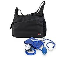 DURAGADGET Nurse/GP/Doctor Medical Kit Bag -Black & Orange Shoulder
