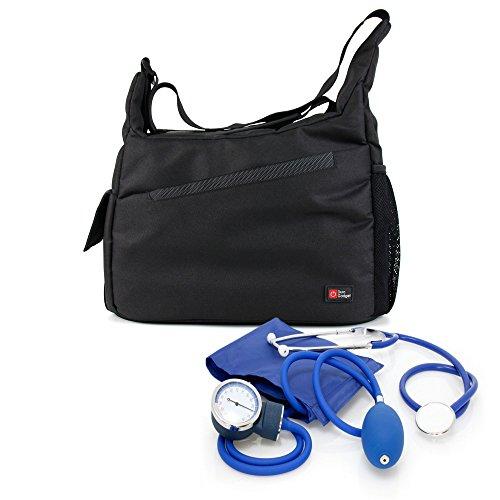 DURAGADGET Bolso/Botiquín para Equipo De Primeros Auxilios Médicos/Paramédicos/Enfermeros - con Bandolera Y Compartimentos Interiores
