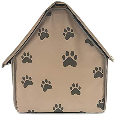 CARBE kennelPet Products Foldable Soft Feet Printed Pet Dog Puppy Cloth Bed Kennel Warm House from CARBE