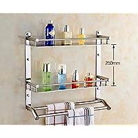 HAIYUGUAGAO Towel rack, Bathroom shelf, the minimalist style, wall mounted Tower Holders (Color : Double 41cm)