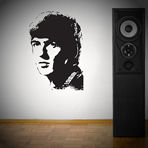Price comparison product image Beatles George Harrison Wall Art Sticker Vinyl Transfer Decal 800 x 600mm