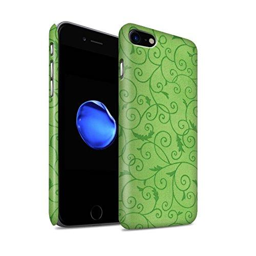 STUFF4 Matte Snap-On Hülle / Case für Apple iPhone 8 / Türkis Muster / Vine Blumenmuster Kollektion Grün