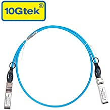 10Gtek para Cisco SFP-H10GB-CU1M, 10GBASE-CU Conector Directo de Cable de Cobre, Cable Twinax, pasivo, 1 metro, color azul