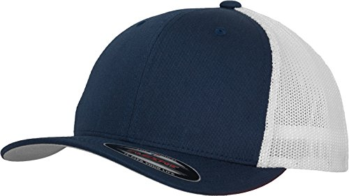 Flexfit Mesh Trucker Cap 2-Tone - Unisex Baseballcap für Damen und Herren, Farbe Navy/White, L/XL